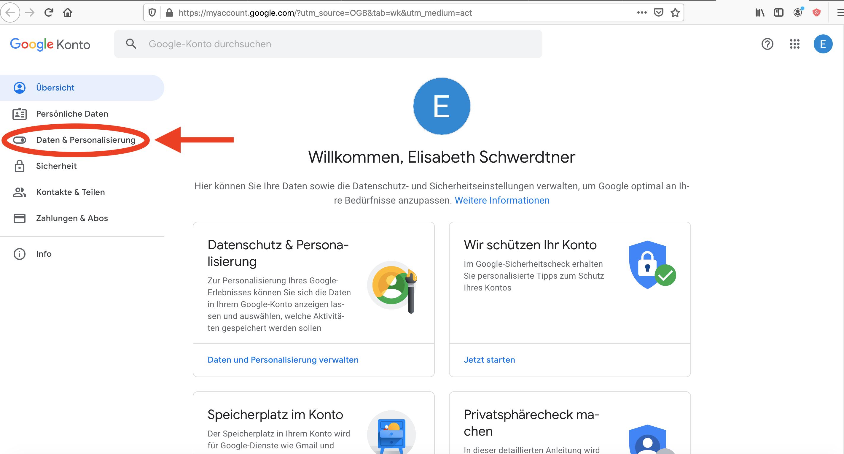 Google Daten und Personalisierung